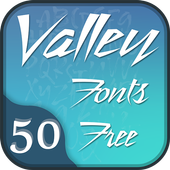 50 Valley Fonts Free icon