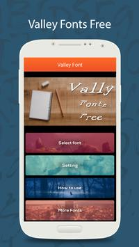 50 Valley Fonts Free poster
