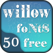 50 Willow Fonts Free icon