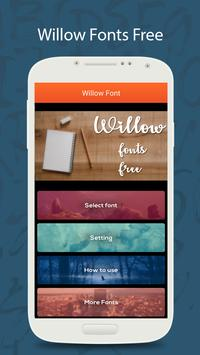 50 Willow Fonts Free poster