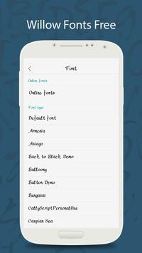50 Willow Fonts Free screenshot 1