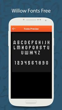 50 Willow Fonts Free screenshot 4
