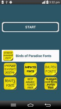 Birds of Paradise Fonts poster