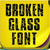 Broken glass Font icon