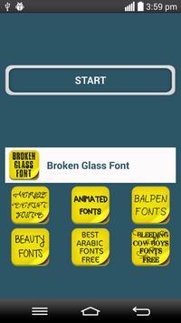 Broken glass Font poster