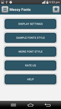 Messy Fonts apk screenshot