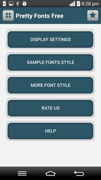 Pretty Fonts Free screenshot 1