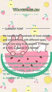 Watermelon Font for FlipFont ,Cool Fonts Text Free poster