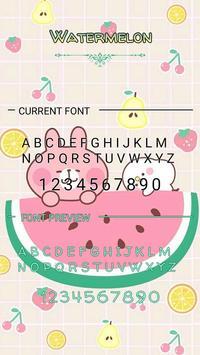 Watermelon Font for FlipFont ,Cool Fonts Text Free apk screenshot