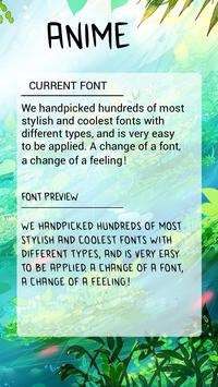 Anime Font for FlipFont , Cool Fonts Text Free poster