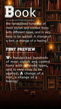 Book Font for FlipFont , Cool Fonts Text Free poster