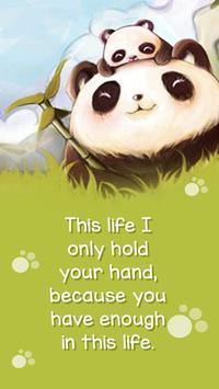 Cuteness Panda poster