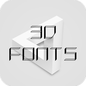 3D Font for FlipFont , Cool Fonts Text Free icon