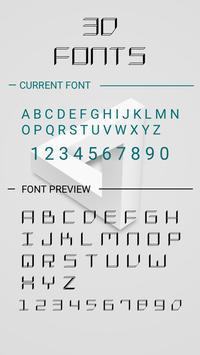 3D Font for FlipFont , Cool Fonts Text Free apk screenshot