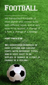 Football Font for FlipFont , Cool Fonts Text Free poster
