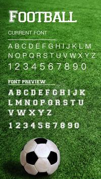 Football Font for FlipFont , Cool Fonts Text Free apk screenshot