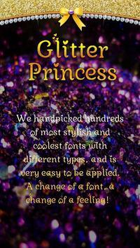 Glitter Princess Font for FlipFont,Cool Fonts Text poster