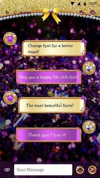 Glitter Princess Font for FlipFont,Cool Fonts Text apk screenshot