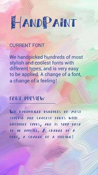 Hand Paint Font for FlipFont, Cool Fonts Text Free poster