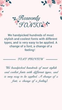 Rose Only Font For FlipFont Cool Fonts Text Free Poster