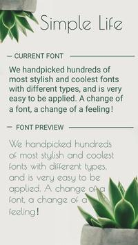 Simple Life Font for FlipFont,Cool Fonts Text Free poster
