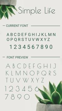 Simple Life Font for FlipFont,Cool Fonts Text Free apk screenshot
