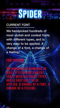 Spider Font for FlipFont , Cool Fonts Text Free poster