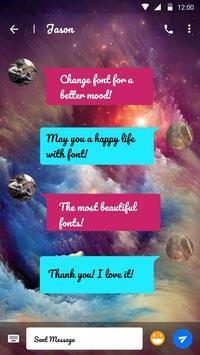Starry Sky Font for FlipFont ,Cool Fonts Text Free apk screenshot