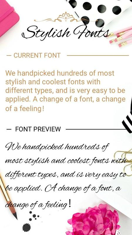 Stylish Font For FlipFont Cool Fonts Text Free Poster