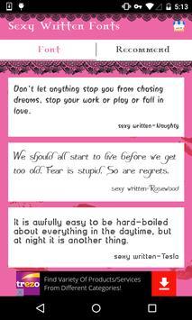 Sexy Written Fonts screenshot 2