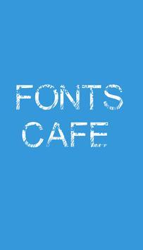 Font Cafe poster
