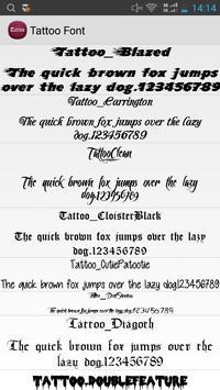 Tattoo Font Flipfont Free poster