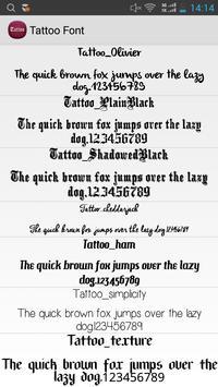 Tattoo Font Flipfont Free apk screenshot
