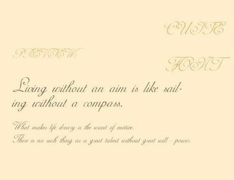 AdineKirnberg font apk screenshot