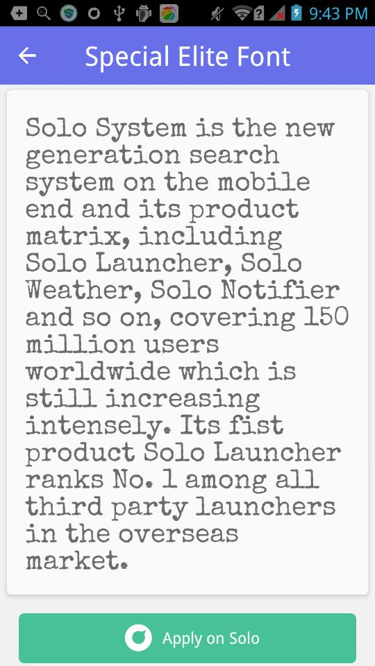 Typewriter font #1 - Solo Font for Android - APK Download