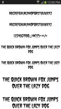Fonts Cool for FlipFont® free apk screenshot