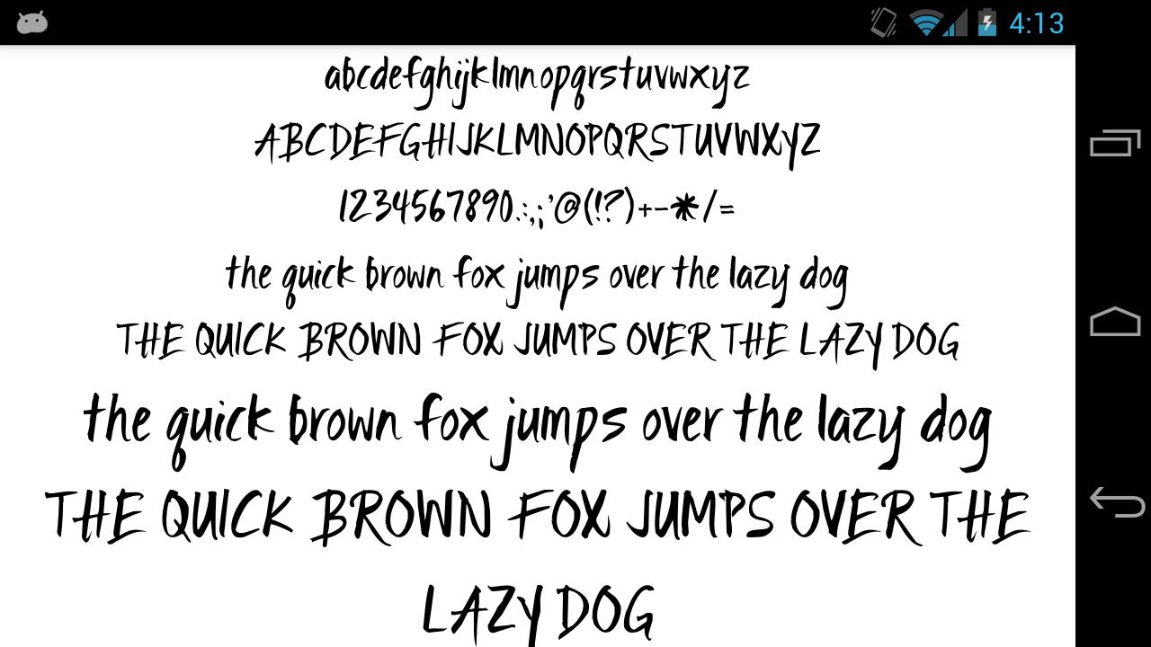 Fonts for FlipFont 50 Brush for Android - APK Download