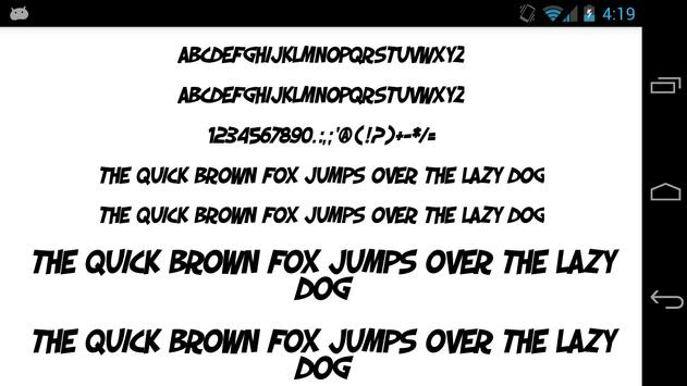fonts for flipfont 50 comic apk screenshot