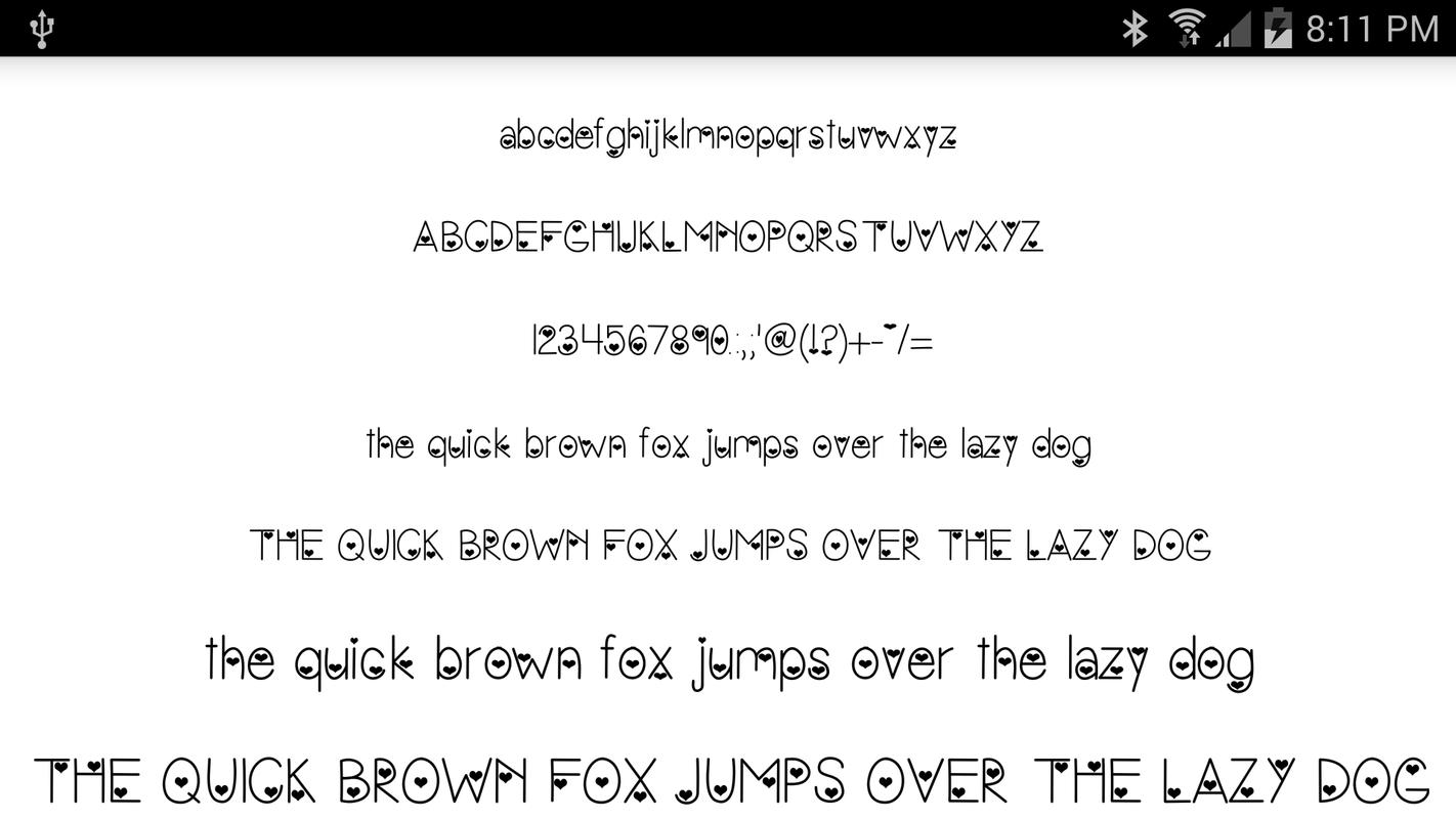 fonts for flipfont 50 hearts apk download - free personalization app