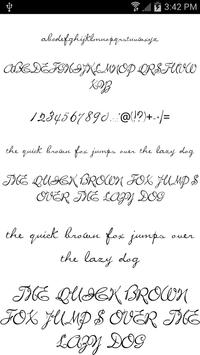 Fonts for FlipFont Script Font screenshot 1