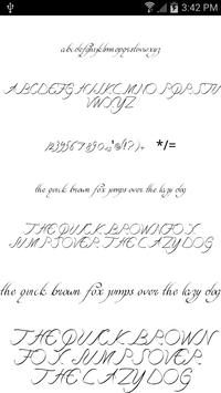 Fonts for FlipFont Script Font apk screenshot