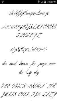 Fonts for FlipFont Script Font screenshot 7