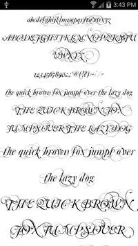 Fonts for FlipFont Script Font screenshot 4
