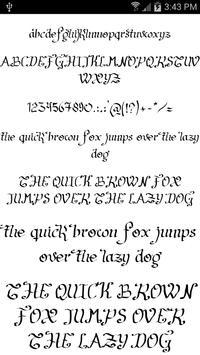 Fonts for FlipFont Script Font screenshot 6