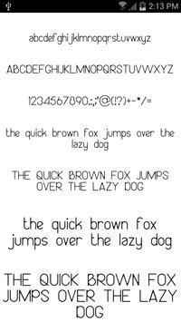 Fonts for FlipFont #13 apk screenshot