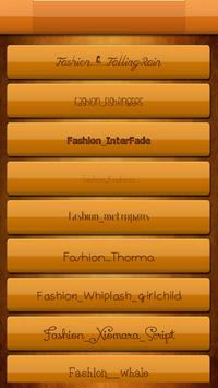 Free Fonts for Fashion Style screenshot 1