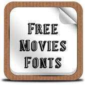 Free Movies Fonts icon