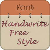 Handwrite Font Style Free icon