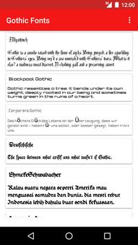 Gothic Fonts for FlipFont poster