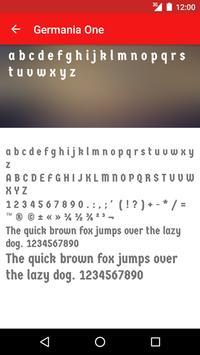 Gothic Fonts for FlipFont apk screenshot